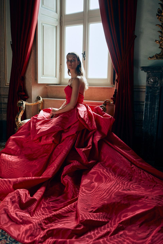 Villa Balbiano Monique Lhuillier Spring collection fashion shoot exclusive private luxury property rental Lake Como Milan