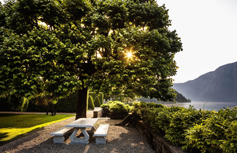 Villa Balbiano luxury property Lake Como Italy best dinner area al fresco Italian food wine exclusive table settings private dinner chef