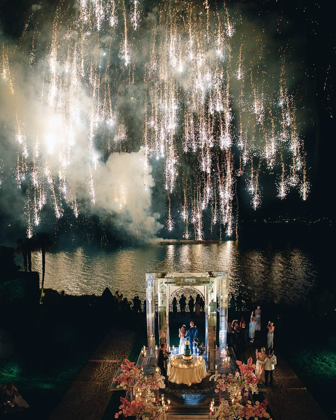 Villa Balbiano luxury property Lake Como Italy exclusive private rental rental unique intimate weddings event venue ceremony stunning best water view fireworks happy bride groom