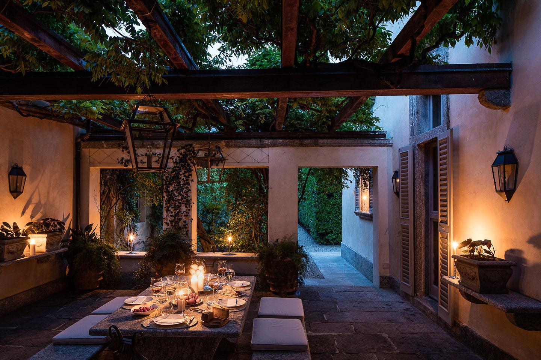 Villa Balbiano luxury property Lake Como Italy terrace best service refine local italian food wine pleasant entertaiment exclusive clients