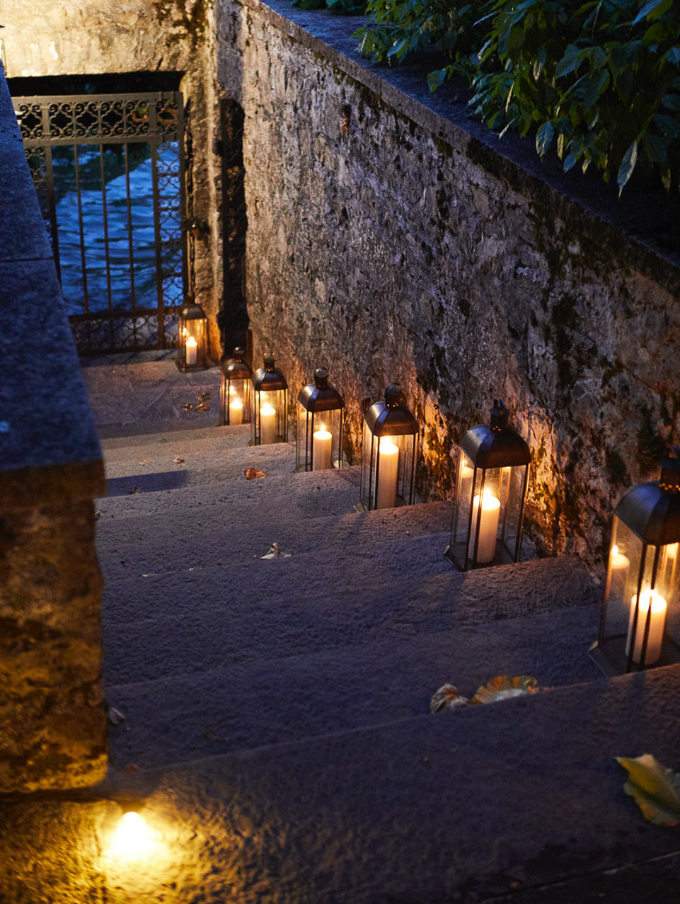 Villa balbiano by night
