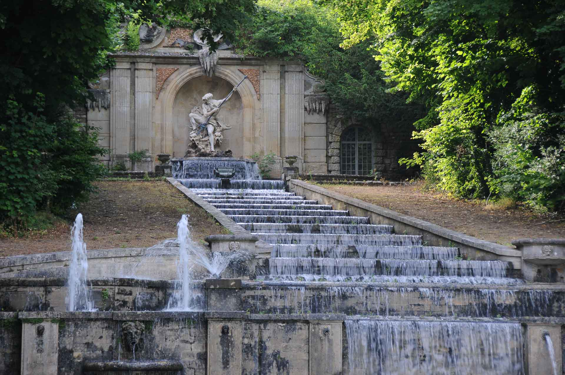 Chateau de Villette charming private residence offering accommodation luxury wine french breakfast swimming pool private park tennis court lush garden water cascade 15