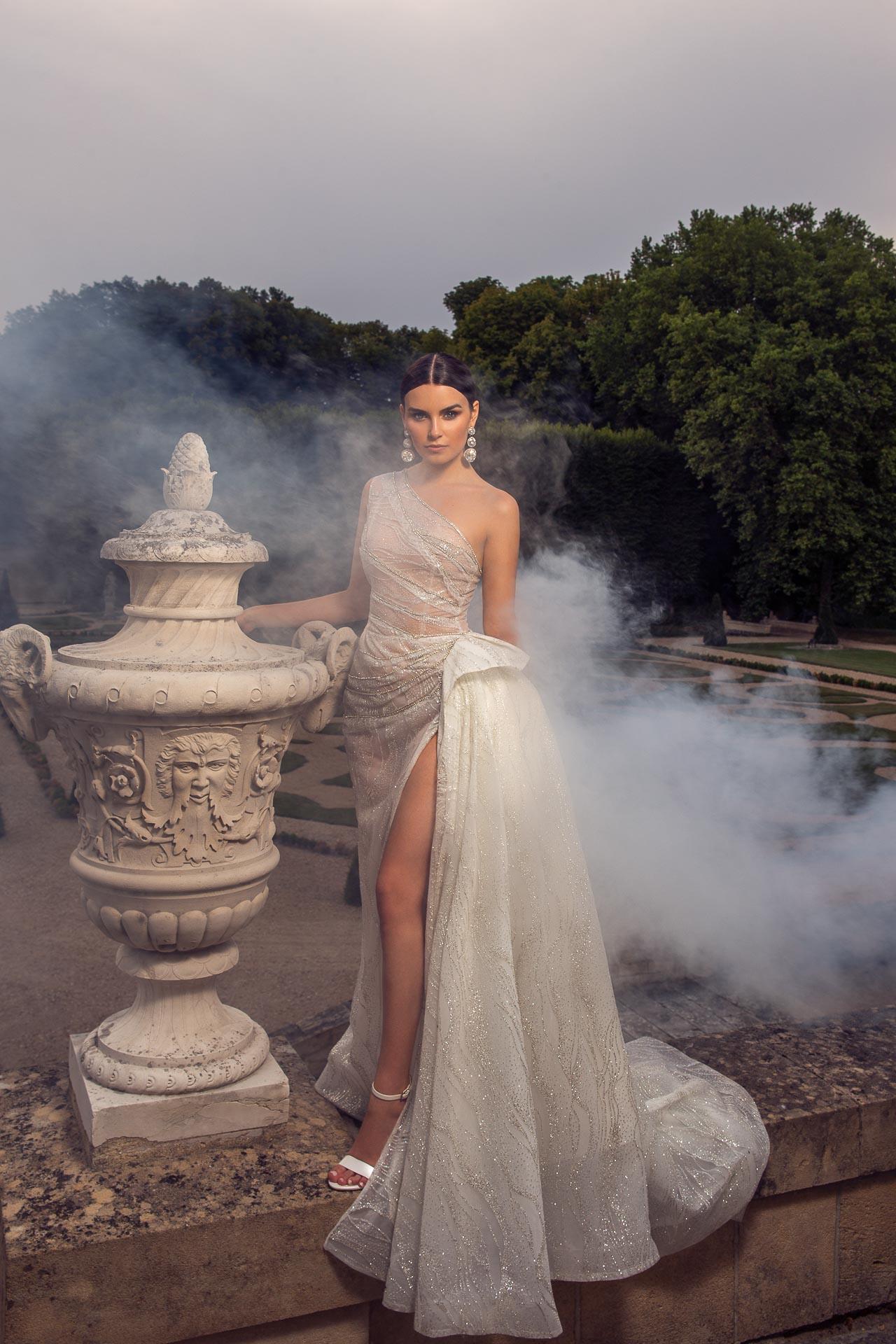 Chateau de Villette luxury private property near Paris best wedding event venue high quality exclusive services park ceremony bridal couture gown luxurious dress The Heritage Collection