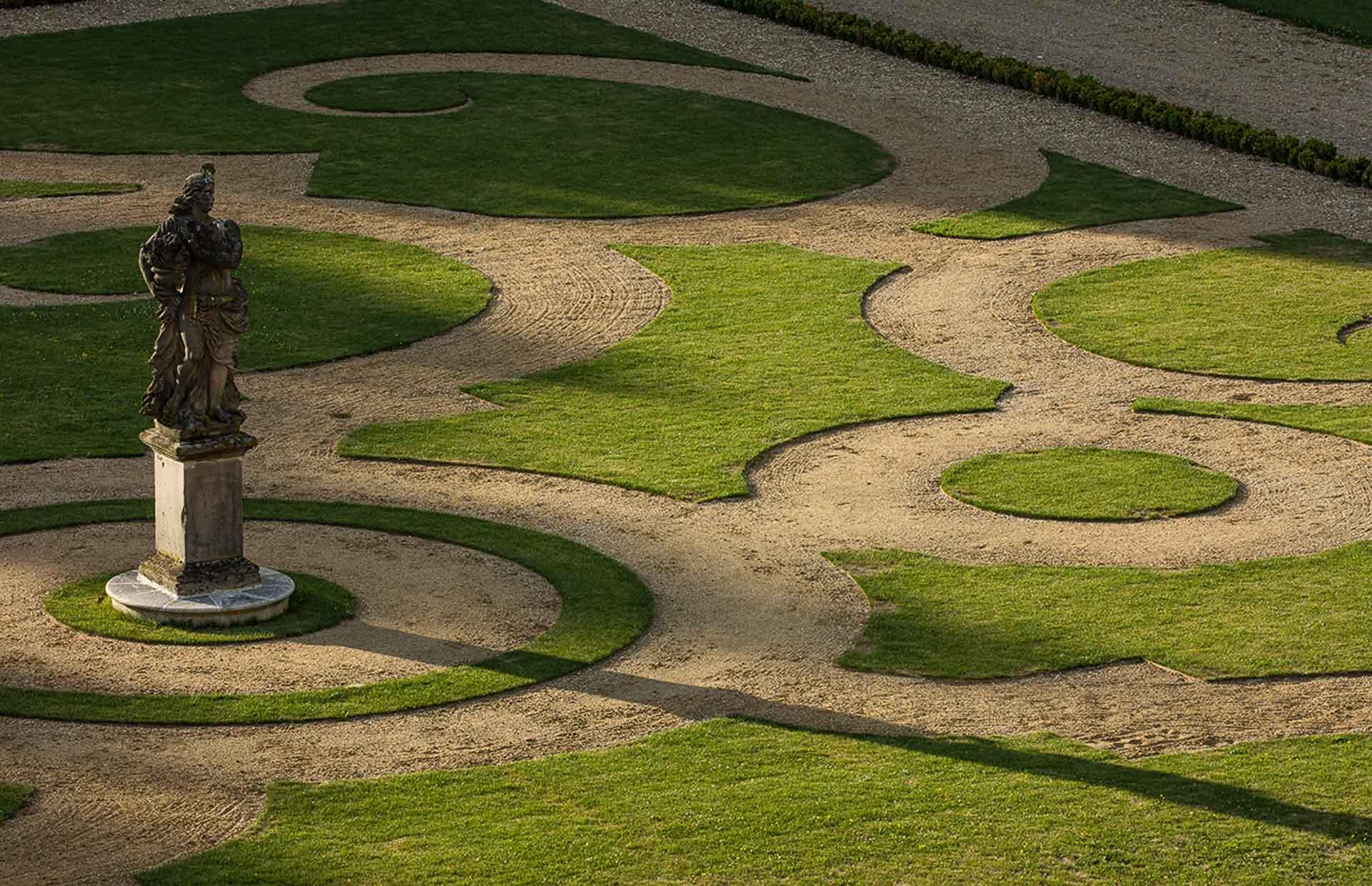 Chateau de Villette private residence near Paris France big park garden beautiful parterre Lenotre Versailles 5