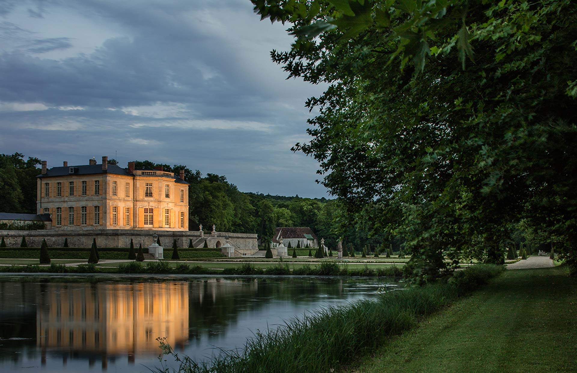 Luxury private residence Chateau Villette Paris panoramic view from lake 1