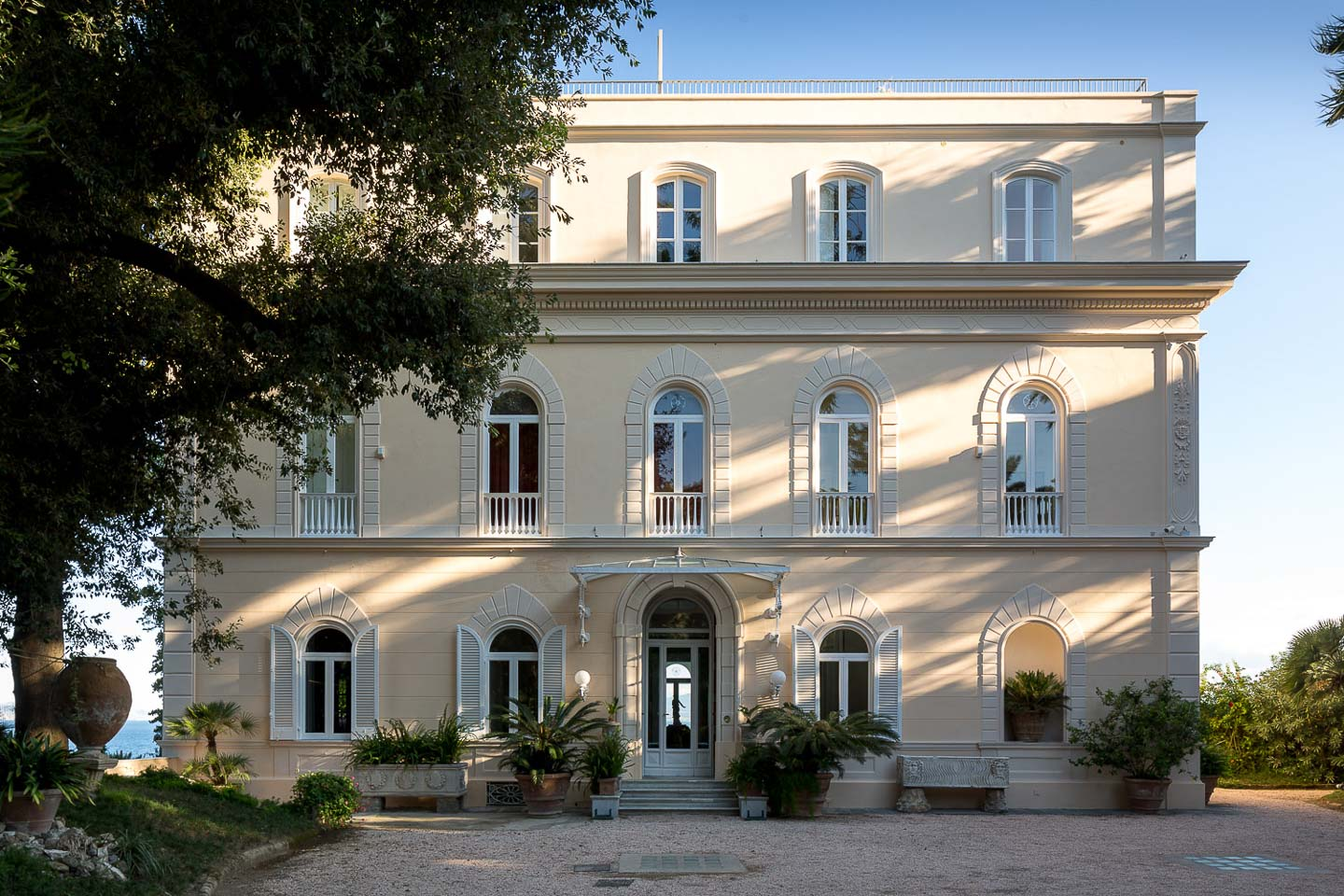 P VA historic residence Benedetto Croce italian history heritage private estate luxury home facade accommodation guest stay Amalfi Coast Sorrento 18 1