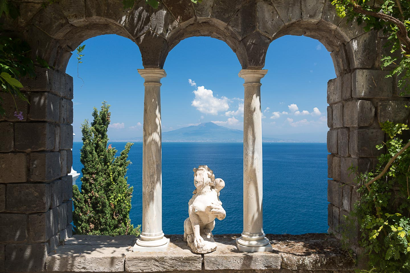 Villa Astor Amalfi paradise restored house luxury accommodation rental Sorrento Medditerranean sea view garden window view Mount Vesuvius Capri 22 1