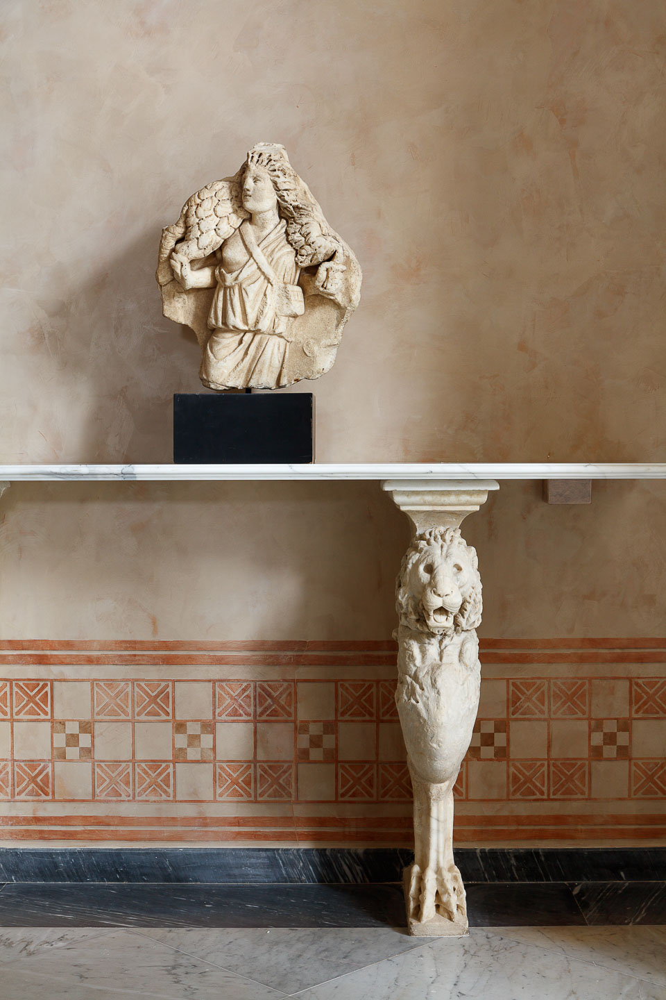 Villa Astor best exclusive interior decor decoration marble antique console Heritage collection decorative art exclusivity luxurious accommodation stay The Heritage Collection