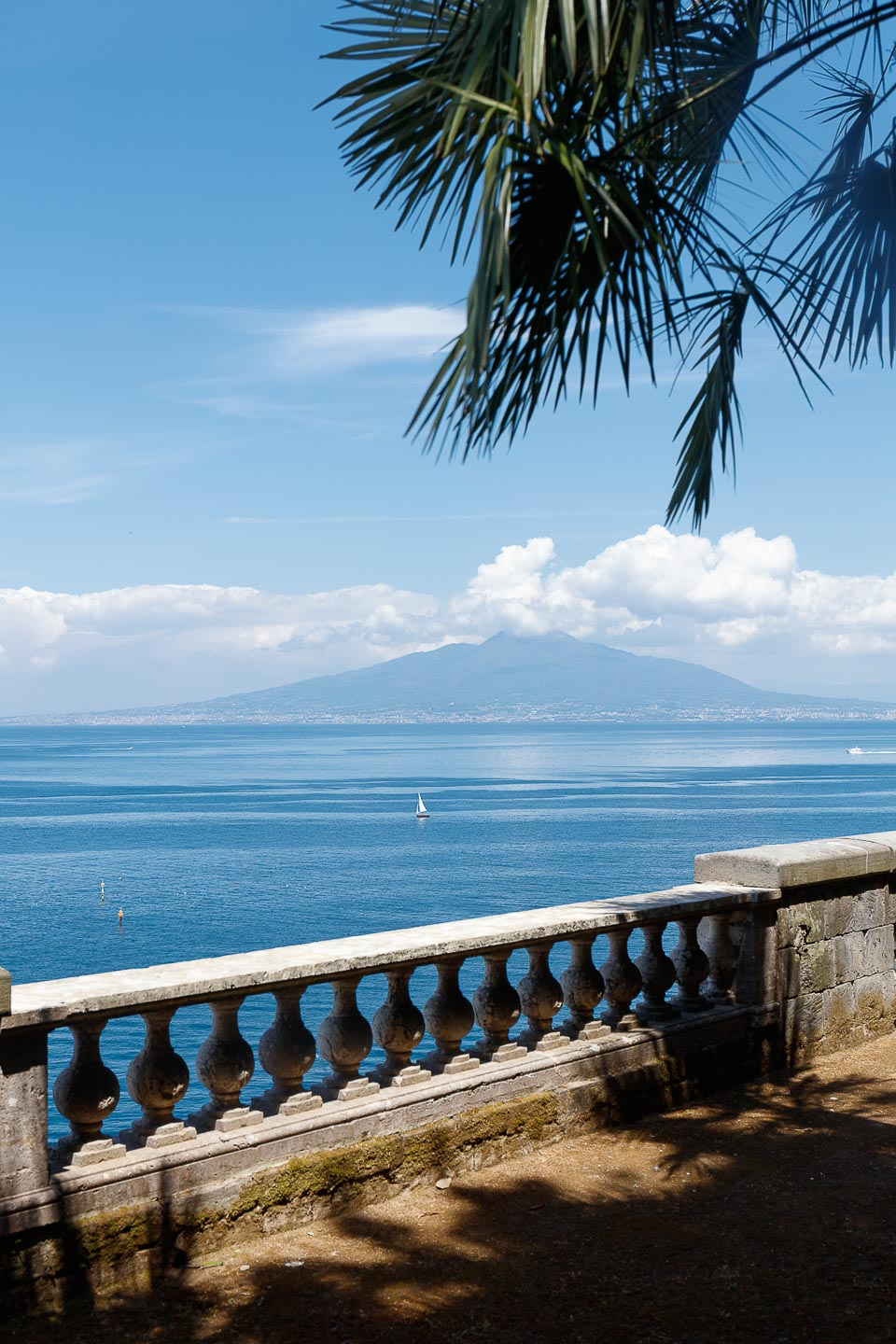 Villa Astor best terrace view Sorrento Vesuvio exotic palm tree garden park Italian wine food exclusive luxury retreat resort enjoing intimacy event destination wedding party 1
