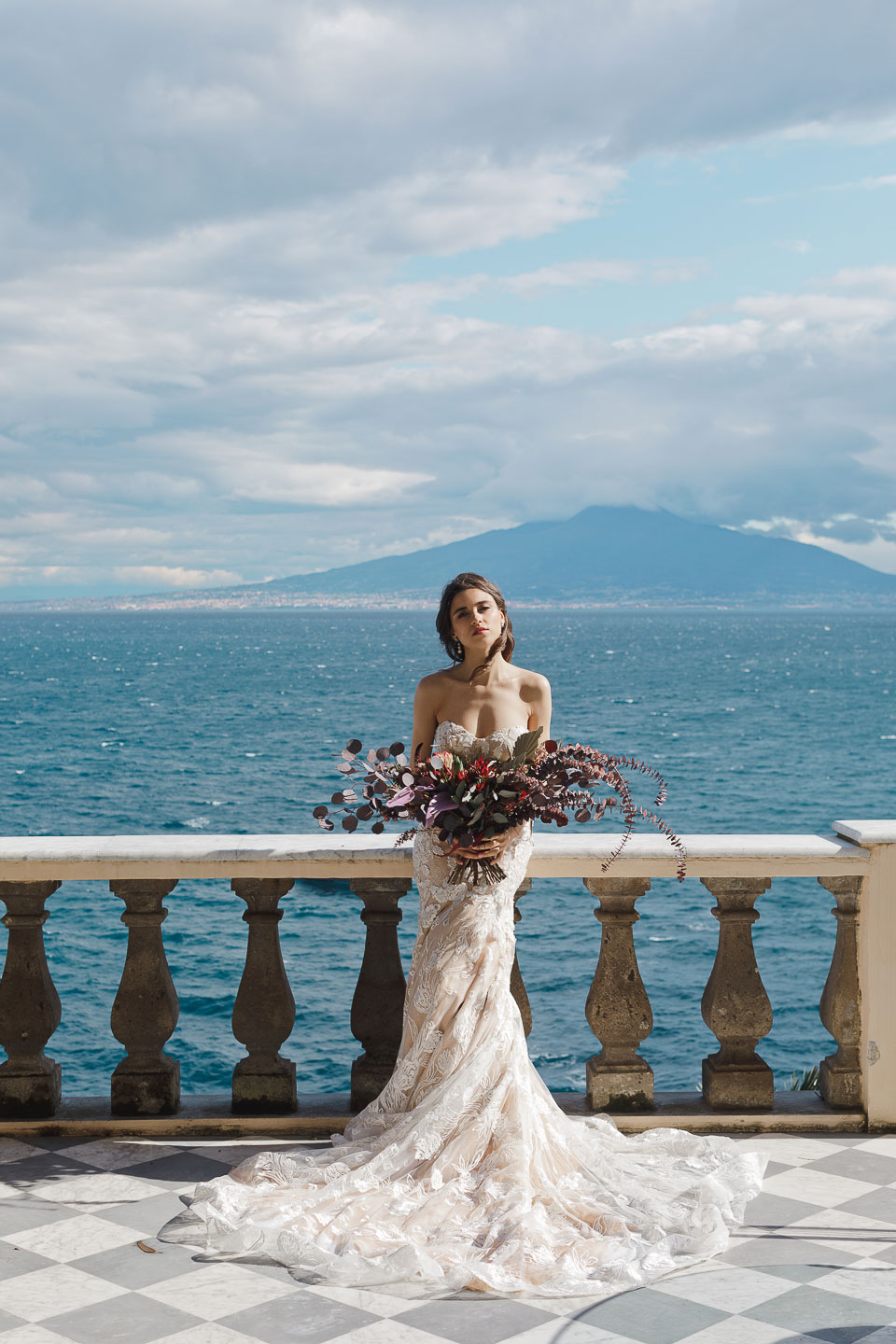 Villa Astor luxury property available exclusive rent rental evening light music best venue Italy The Heritage Collection bridal seaside view photo portrait