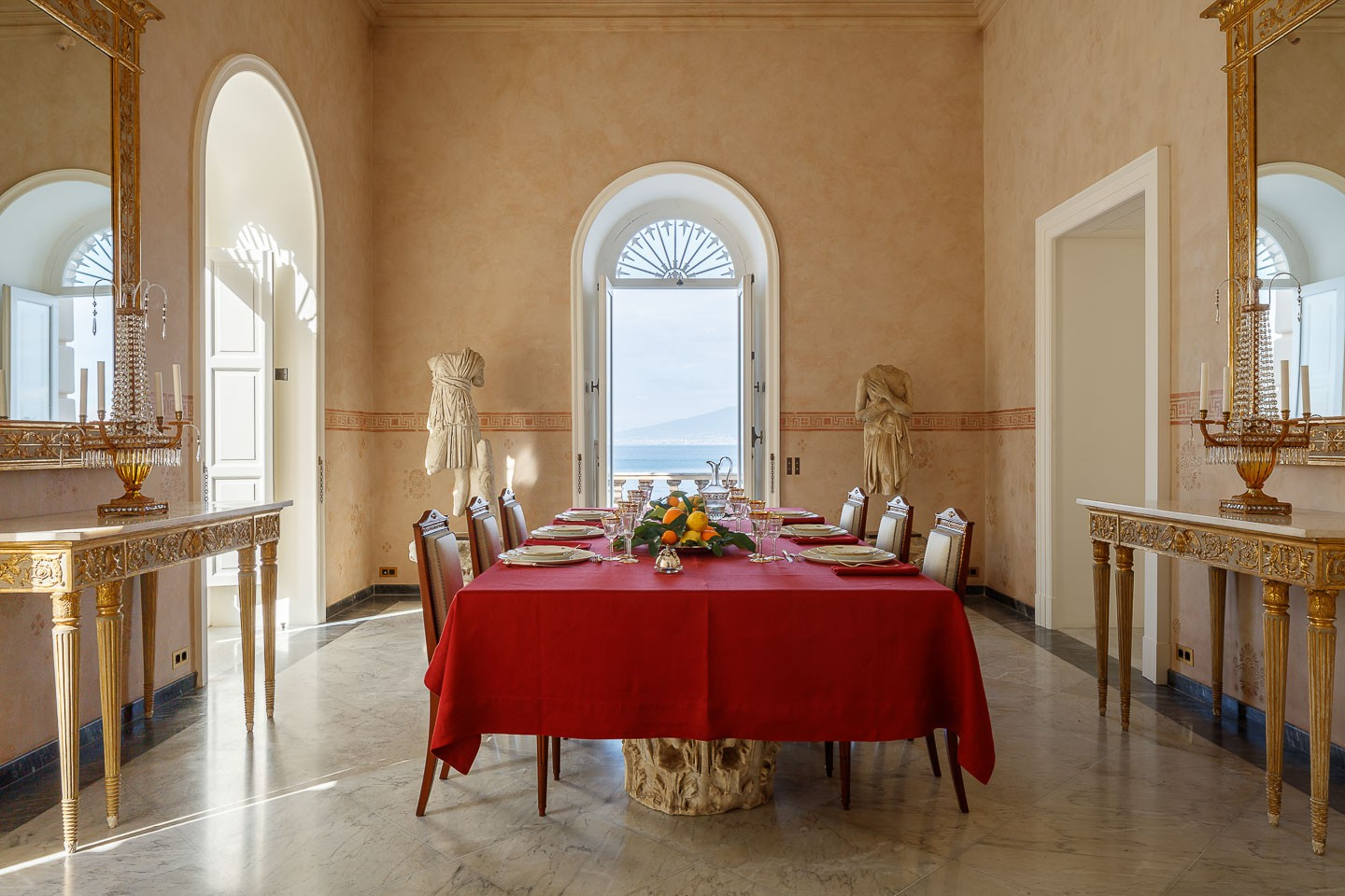Villa Astor luxury property available for exclusive rent rental destination ices accommodation best dining room table settings The Heritage Collection