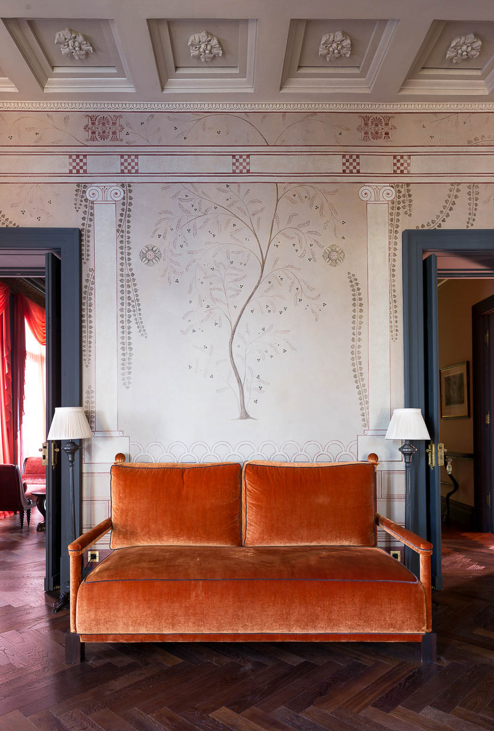Villa Astor private luxury property estate Sorrento guest relax living room area The Heritage Collection