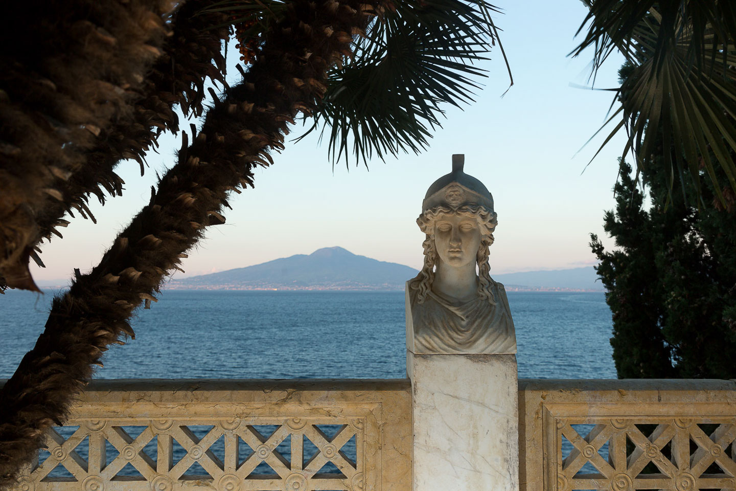 Villa Astor residence luxury accommodation home Benedetto Croce Amalfi Coast Sorrento garden belvedere Mount Vesuvius view sea marble antique statue head idyllic haven 17 1