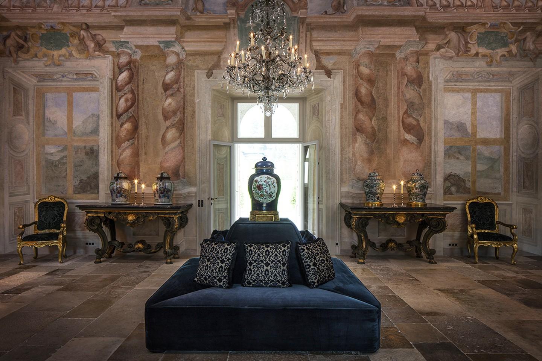Villa Balbiano luxury property Lake Como Milan Italy exclusive wedding event venue grand floor salon ceremony best Durini classic interiors 1
