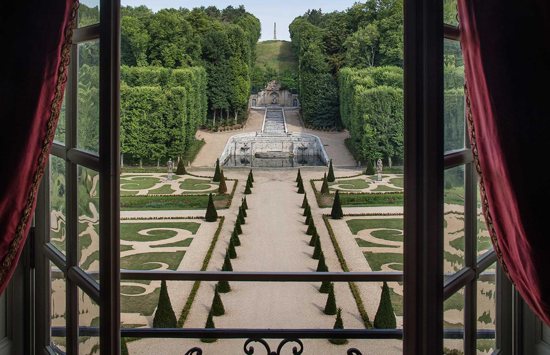 best view to park french garden parterre chateau france paris luxury travel accommodation exclusive retal event venue