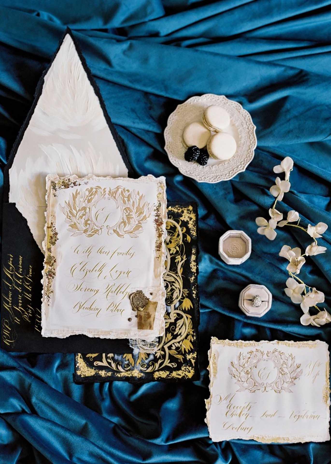 Luxury French style wedding stationery