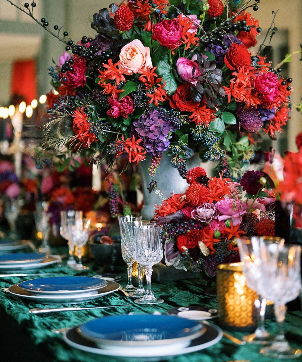 COVER Chateau de Villette event venue France sumptuous table setting luxury wedding inspiration-min